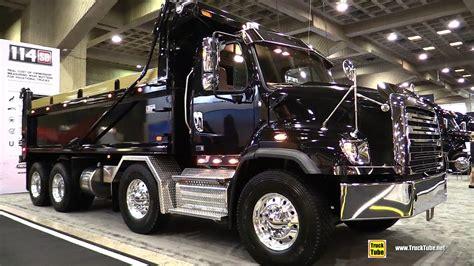 freightliner sd set  axle truck walkaround