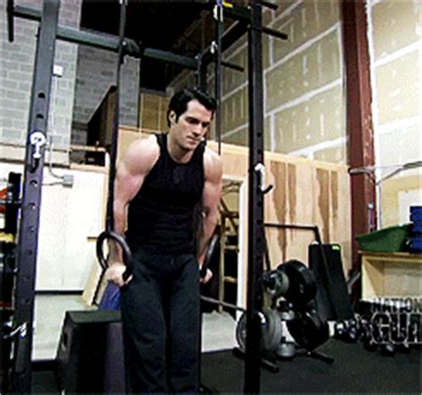 tom cullen workout henry cavill muscles gif find share on giphy