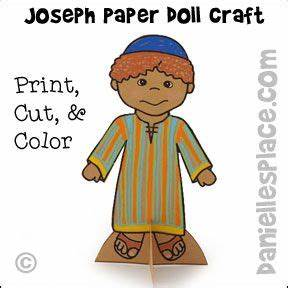 Joseph Wearing his Coat of Many Colors Paper Doll Craft ...