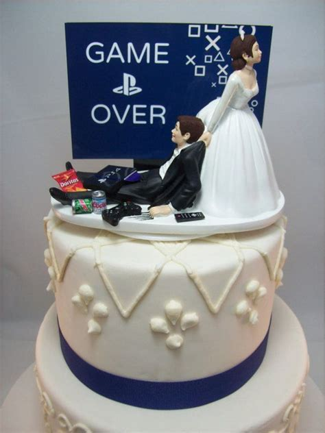 game  playstation funny wedding cake topper video game
