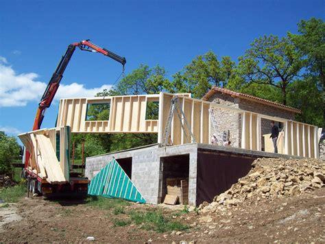 cout construction maison ossature bois maison moderne
