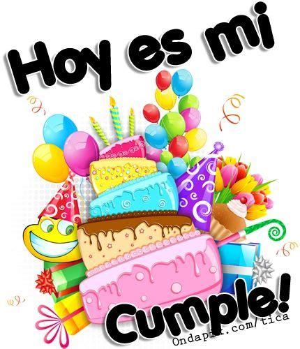 Hoy es mi cumple Cartoon birthday cake Birthday card