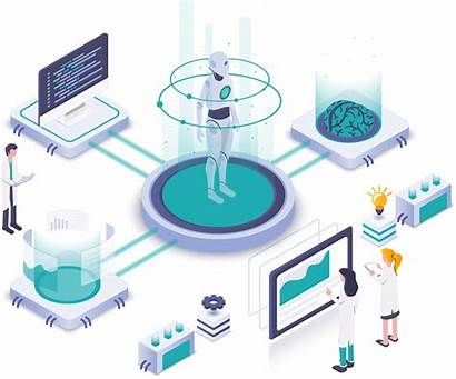 Intelligence Artificial Ai Illustration Isometric Business Warehousing
