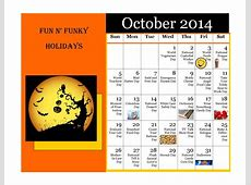 October's Fun, Funky Holidays – Bronco Press