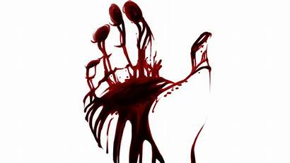 Blood Hand Bloody Handprint Wallpapers Background Creepy