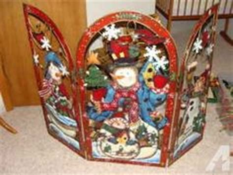 santa fireplace screen santa claus twas the before 3 panel metal