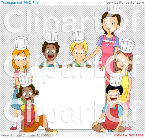 Clipart Home Economics Class And Teacher Around A Blank ...