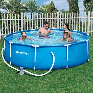 Piscine Tubulaire Oogarden : piscine steel pro frame pools bleue 3 05m x 76 cm ronde ~ Premium-room.com Idées de Décoration