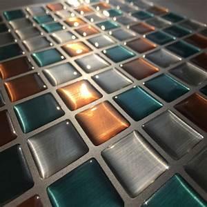 2017 nouvelle tendance mixte couleur vinyle carrelage With carrelage adhesif salle de bain avec bande led 1m