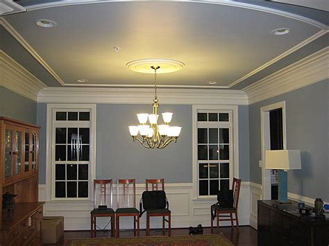 trim rather rather than tray ceiling home building ideas