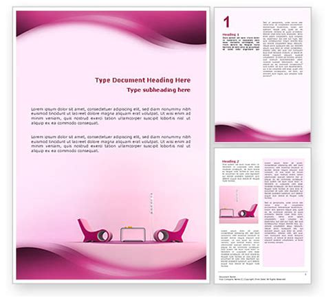 word template design modern interior design word template 02808 poweredtemplate