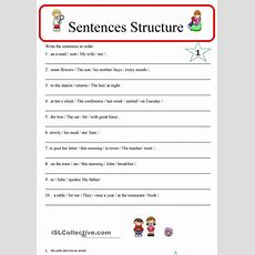 Sentence Structure 1  Esl Worksheets Of The Day  Pinterest  Word Order, Words And Student