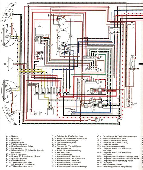 Volkswagen Wiring For 1969 by 1970 Vw Wiring Diagram Wiring Library