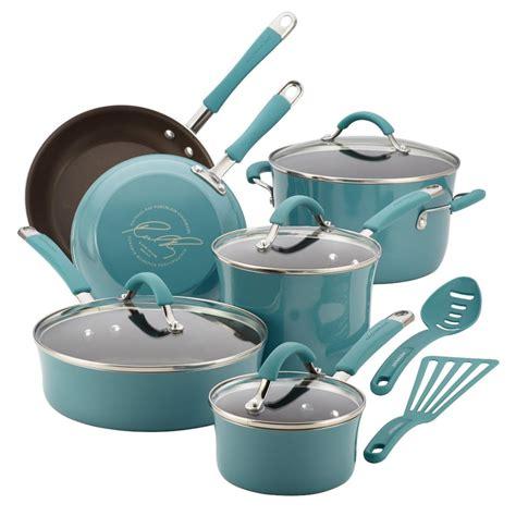 pioneer woman cookware set review porcelain enamel  piece set
