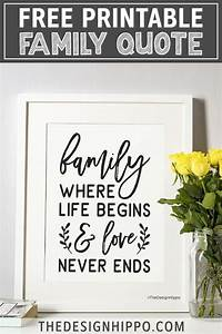 free farmhouse style family quote printable in 2020