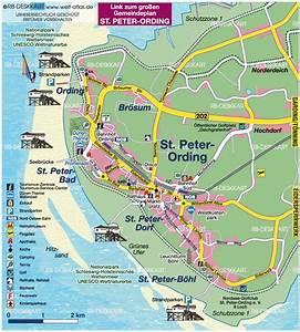 St Peter Ording : map of st peter ording region in germany schleswig holstein welt ~ Orissabook.com Haus und Dekorationen