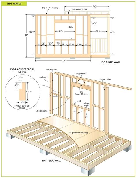 cottage blueprints free wood cabin plans free step by step shed plans