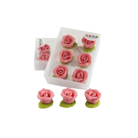 6 roses en p 226 te d amande quot quot funcakes