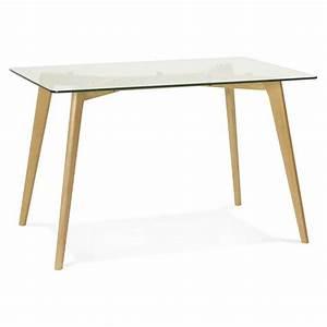 Table à Manger En Verre : table manger style scandinave rectangulaire varin en verre ~ Teatrodelosmanantiales.com Idées de Décoration