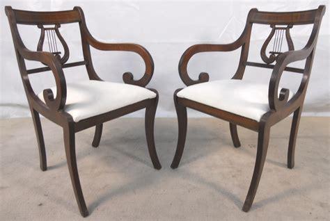 Mahogany Harp Back Chairs by Sold Set Of Six Antique Regency Style Mahogany Harp Back