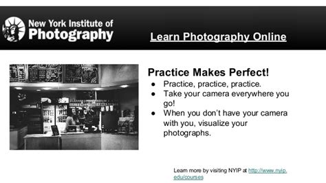 Learn Photography Online  New York Institute Of Photography