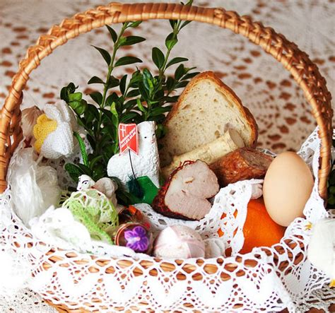easter food traditions blessing of the easter baskets on holy saturday