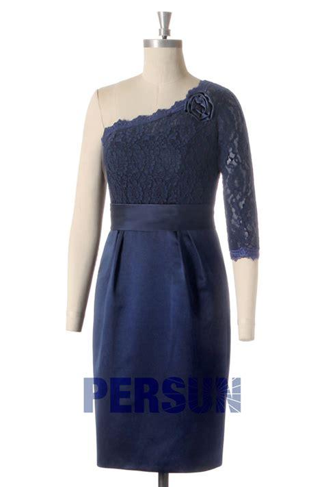 robe pour mariage bleu marine dentelle robe de soir 233 e bleu marine asym 233 trique avec demi manche