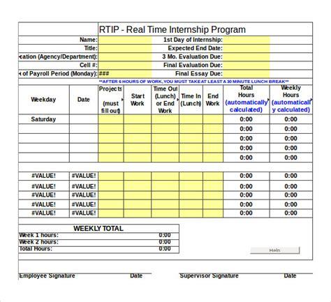 sample work timesheet calculators   ms word