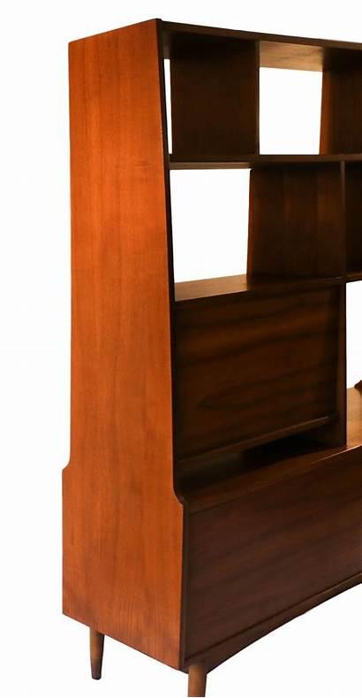 Divider Modern Bookcase Century Mid Hutch Furniture
