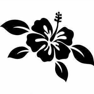 stickers avec fleur d39hibiscus et de feuilles With chambre bébé design avec fleur d hibiscus tisane