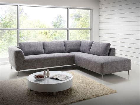 canapé narbonne salon canapé d 39 angle design avec méridienne en tissu gris