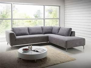 3 Suisses Canapé D Angle : salon canap d 39 angle design avec m ridienne en tissu gris narbonne ~ Teatrodelosmanantiales.com Idées de Décoration