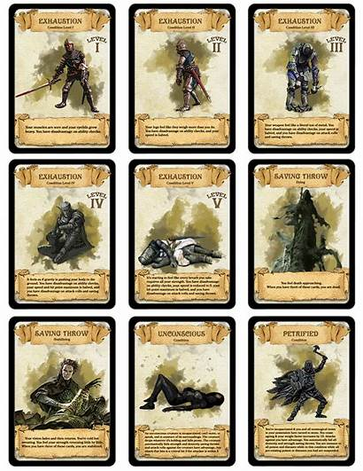 Cards Condition Dnd 5e Dragons Dungeons Dm