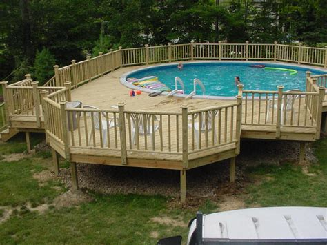 above ground pool steps attached to deck deck photos3