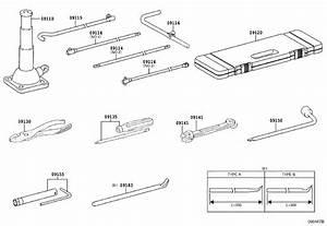 Toyota Land Cruiser Wrench  Wheel Cap  Tools
