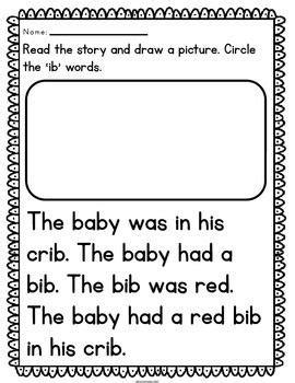 reading fluency passages cvc word family kindergarten