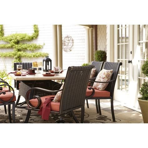shop allen roth pardini patio dining chair at lowes