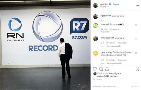 Reinaldo Gottino anuncia demissão da Record e vai pra CNN ...