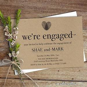 25 best ideas about engagement party invitations on for Wedding announcement gift ideas