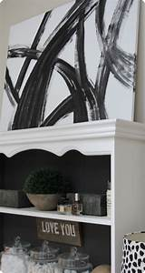 Black, And, White, Abstract, Wall, Art