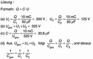 Kondensator Kapazität Berechnen : das elektrische und das magnetische feld induktion ~ Themetempest.com Abrechnung