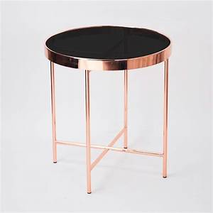 round rose gold frame glass coffee table modern buy With rose gold round coffee table
