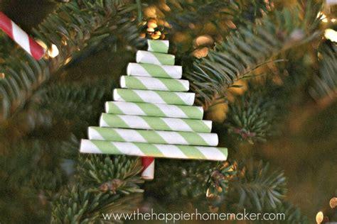 diy paper straw ornaments the happier homemaker