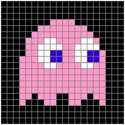 Excel Pixel Art Pac Man Ghost