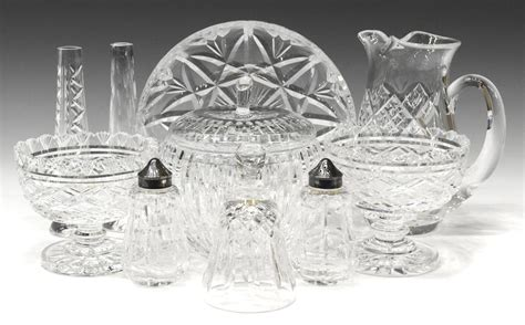 waterford crystal table ls 10 waterford cut crystal table items july mid century