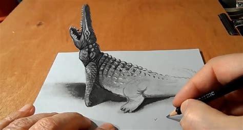 un si鑒e come disegnare un impressionante coccodrillo tridimensionale stile arte