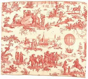 Toile De Jouy : texile fabric toile de jouy balloon print national air and space museum ~ Teatrodelosmanantiales.com Idées de Décoration