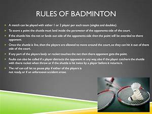 Rules And Regulations Of Table Tennis And Badminton Ppt