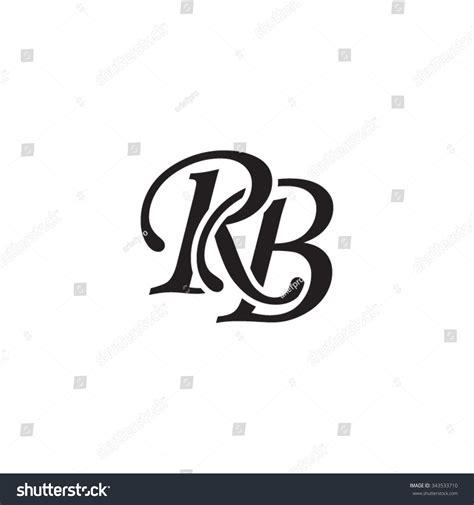 rb initial monogram logo stock vector illustration  shutterstock
