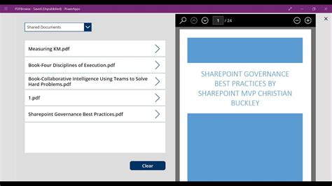 How To Use Powerapps To View Pdf's In A Sharepoint Library